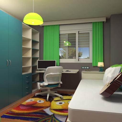 kolorowy pokój młodzieżowy