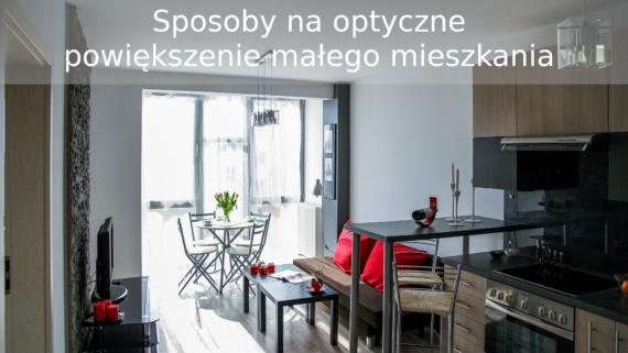 optyczne powiększenie małego mieszkania
