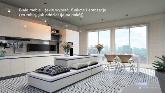 Białe meble - jakie wybrać, funkcje i aranżacje (co robią, jak oddziałują na pokój)
